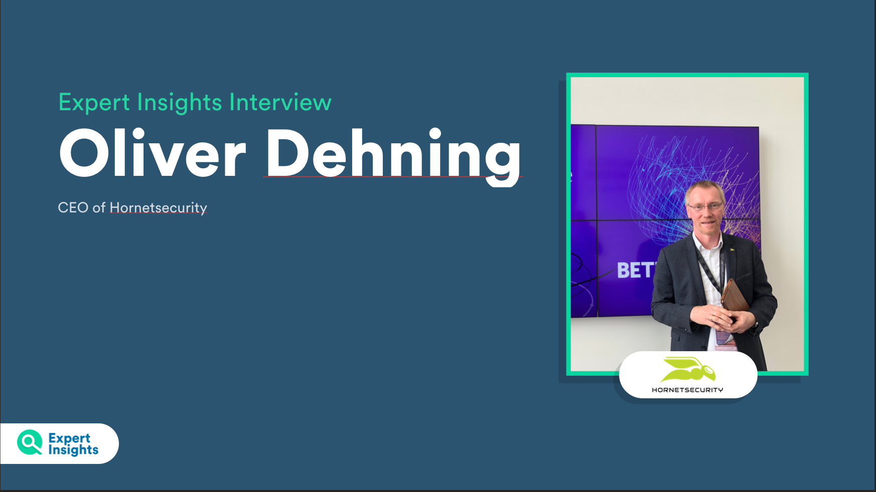 Oliver Dehning Hornetsecurity interview - expert insights