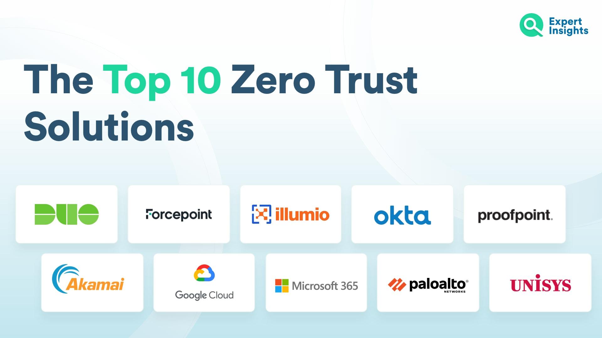 Top 10 Zero Trust Solutions
