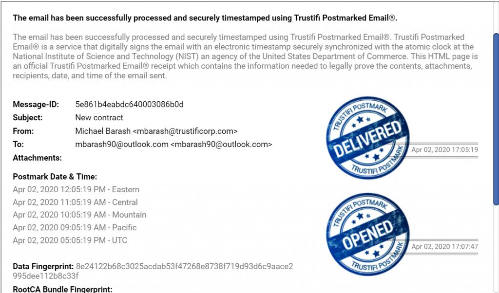 Trustifi Email Postmark